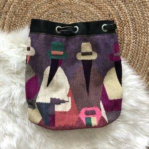 Vintage 100% wool bag. Made in Ecuador